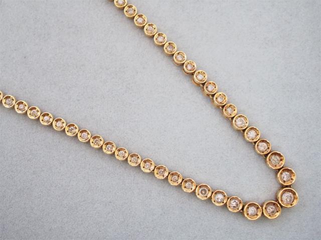 ネックレス K18YG 25.0g ダイヤ 0.50ct