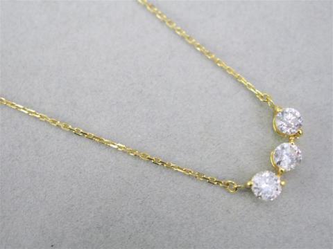 ネックレス K18YG 2.8g ダイヤ 1.00ct