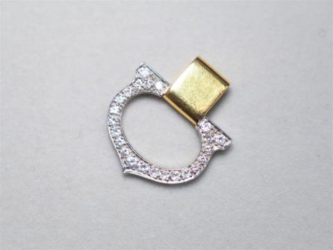 カルティエ ペンダントトップ K18 3.3g Cドゥ ダイヤ