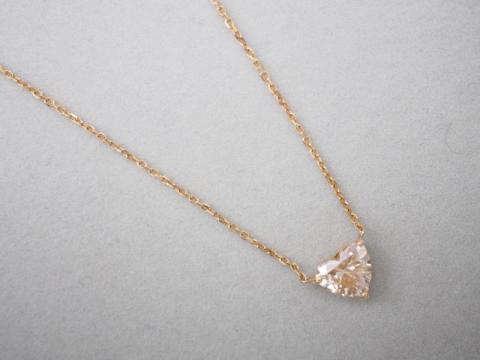 ネックレス K18PG 3.0g ダイヤ 1.483ct