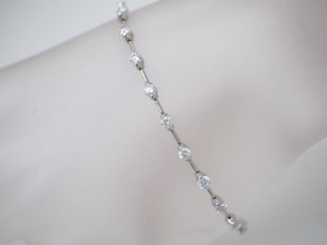 DTC ブレスレット K18WG 10.7g ダイヤ 2.50ct LINE