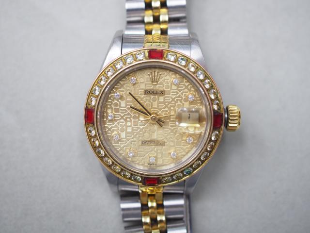 ロレックス 時計 69173G  X番 デイトジャスト  ベゼル加工品