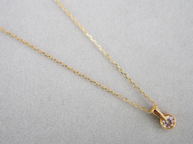 アーカー ネックレス K18YG 1.8g ダイヤ 0.13ct ブレーソン