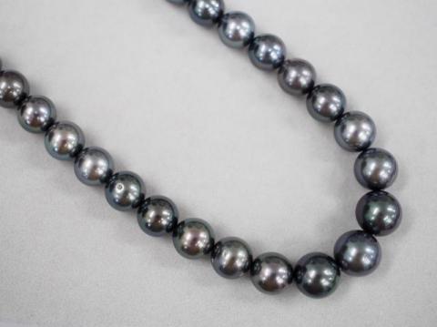 ミキモト ネックレス K18WG 57.6g 黒蝶真珠 ダイヤ