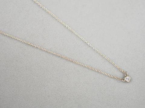 ティファニー ネックレス SV925 1.6g ダイヤ