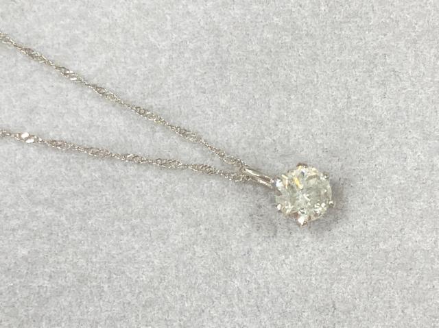 ネックレス Pt900/Pt850 1.3g ダイヤ 0.60ct 一粒