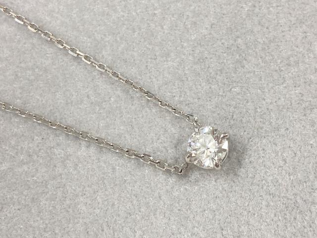 ネックレス Pt900/850 2.6g ダイヤ 0.506ct 一粒