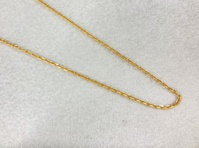 ネックレス K18YG 3.4g アズキチェーン