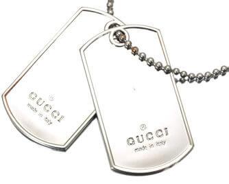 グッチ ドッグタグ ネックレス シルバー925 8,000円