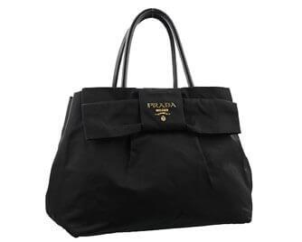 プラダ リボン ハンドバッグ ナイロン ブラック 33,000円