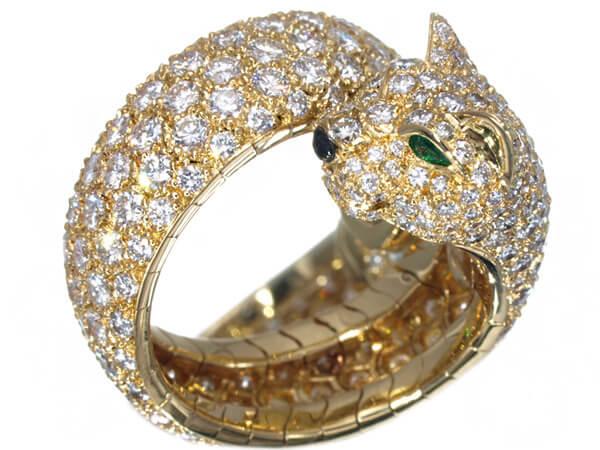 カルティエ ラカルダ パンサー フルダイヤモンド K18 リング 55号 2,800,000円