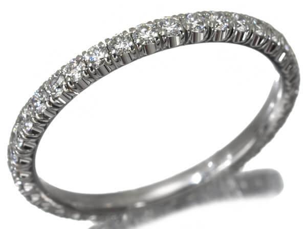 カルティエ ダイヤモンド フルエタニティ リング K18WG 51号 115,000円