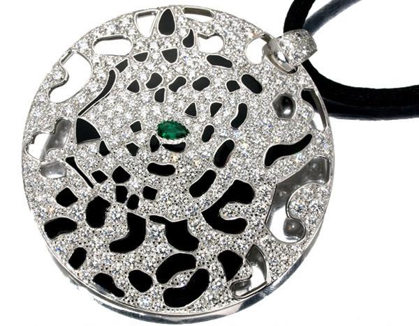 カルティエ パンテール エメラルド ダイヤモンド ネックレス K18WG 2,200,000円
