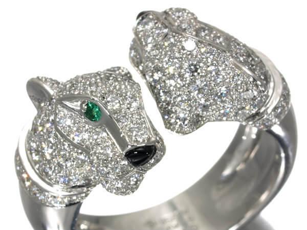 カルティエ(Cartier) パンテール ドゥ カルティエ リング ダイヤモンド K18WG 51号 1,300,000円