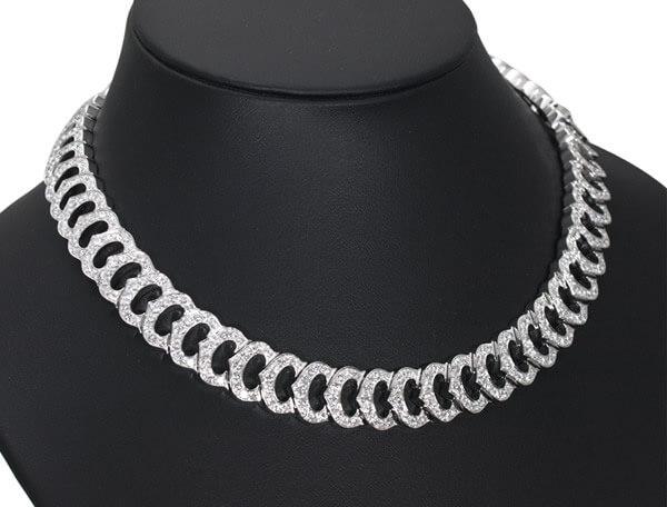 カルティエ Cドゥカルティエ フルダイヤモンド K18WG ネックレス 4,300,000円