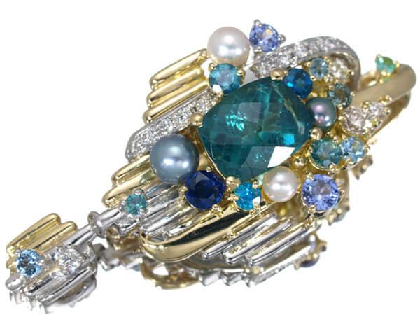 トルマリン ダイヤモンド K18 プラチナ ペンダントトップ 85,000円