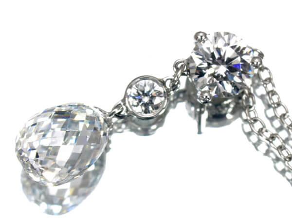 ギメル ブリオレット ダイヤモンド1.06カラット ネックレス 600,000円