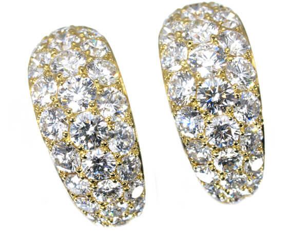 ギメル ラージパヴェダイヤモンド3カラット ピアス 500,000円