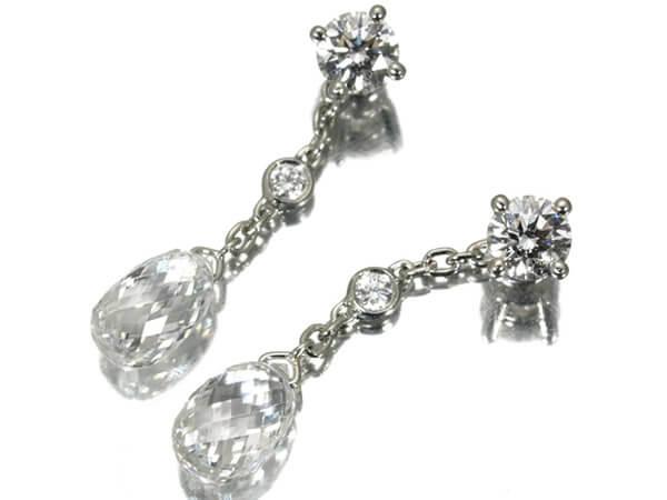 ギメル 2種ダイヤモンド1.60カラット プラチナ950 ピアス 400,000円