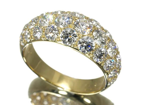 ギメル パヴェダイヤモンド3.031カラット K18 リング 600,000円