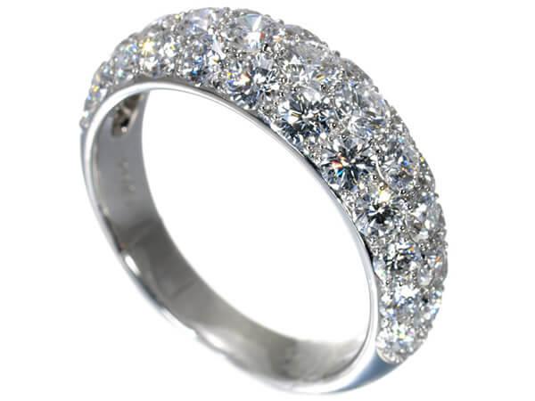 ギメル パヴェダイヤモンド2.023カラット プラチナ950 リング 400,000円