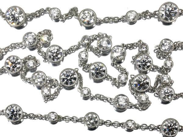 ギメル ダイヤモンド10.849カラット プラチナ950 ネックレスブレスレット 2,300,000円