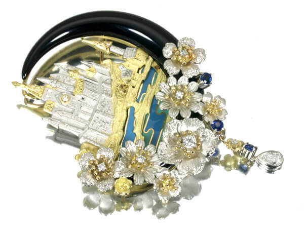 モンサンミッシェル ダイヤモンド K18 ペンダント ブローチ 330,000円