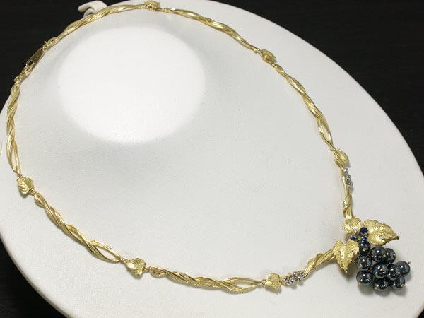 アズタイム 葡萄 ダイヤモンド ネックレス ブローチ 39g 200,000円
