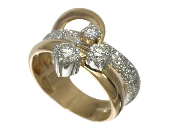 ダイヤ 0.61ct リング K18YG/Pt900 65,000円