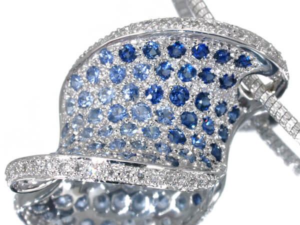 ダイヤモンド サファイア K18 ネックレス 70,000円