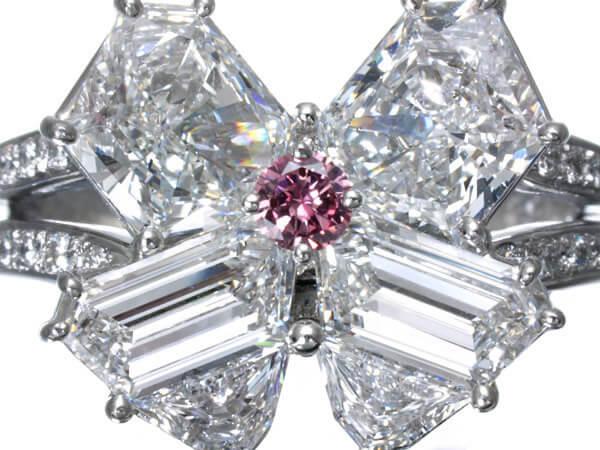 ダイヤモンド ピンクダイヤモンド 3.3ct プラチナ リング 500,000円