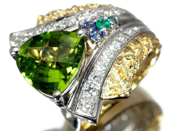 ペリドット ダイヤモンド エメラルド リング 20g 85,000円