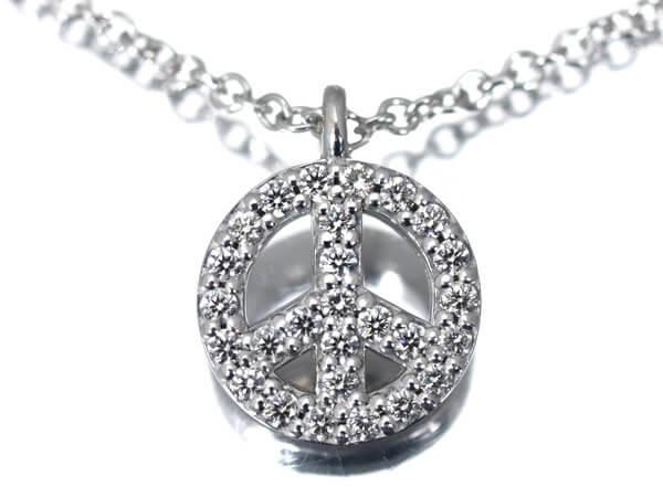 ダイヤモンド、K18WG ネックレス 55,000円