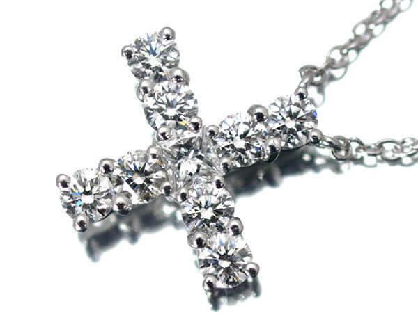 ハリーウィンストン ダイヤモンドクロスネックレス プラチナ950 12×12mm 950 200,000円