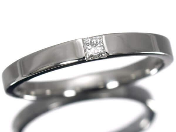 ハリーウィンストン スクエアダイヤモンド プラチナ950 60,000円