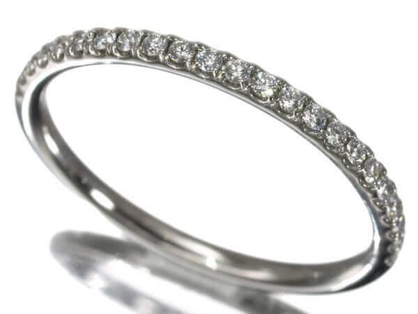 ハリーウィンストン ダイヤモンドハーフエタニティ プラチナ950 1.6mm幅 160,000円
